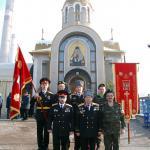 Часто разделяют радость соборной молитвы с прихожанами храма представители Донецкого областного объединения казаков Украины имени Ивана Сирка